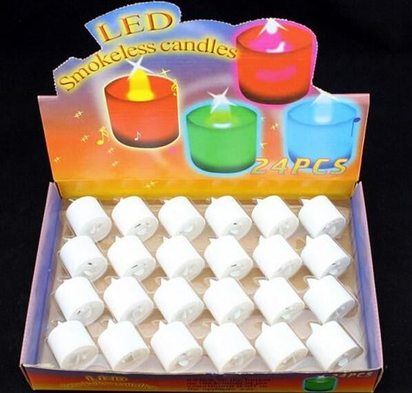 LED Smokeless Candles 24pcs