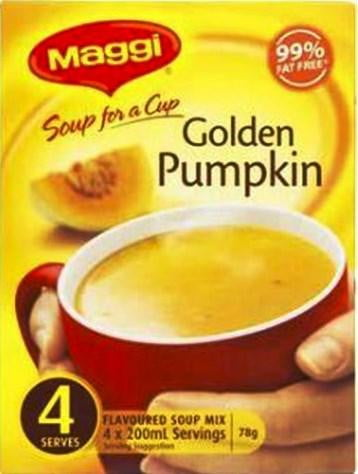 Maggi Soup for a cup Golden Pumpkin 4 Serves