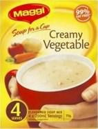 Maggi Soup for a cup Creamy Vegetable 4 Serves
