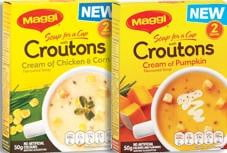 Maggi Soup for a cup with Croutons 2 Serves