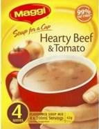 Maggi Soup for a cup Hearty Beef & Tomato 4 Serves