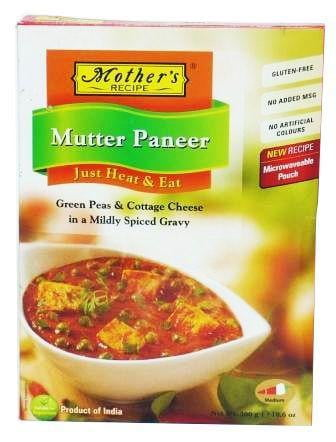 Mothers Recipe (Heat & Eat) Mutter Paneer 300g