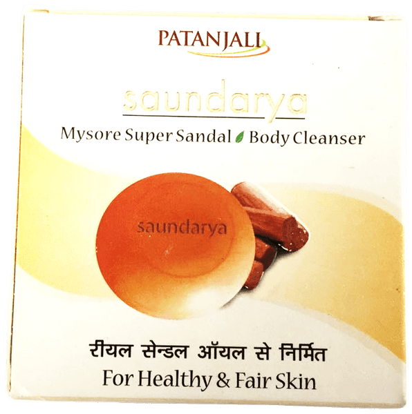 Patanjali Saundarya Mysore Super Sandal Body Cleanser Soap Bar 75g