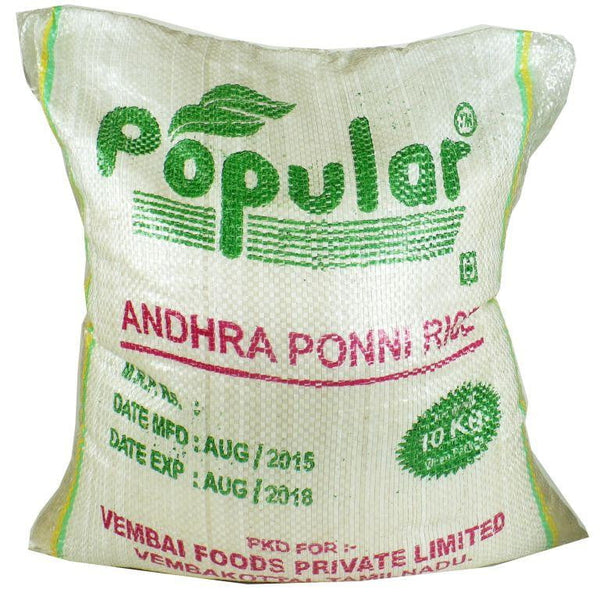Popular Andhra Ponni Rice 10kg