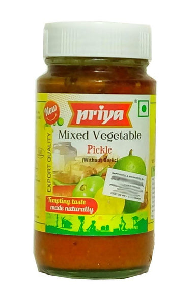 Priya Mixed Vegetable Pickle (without garlic) 300g