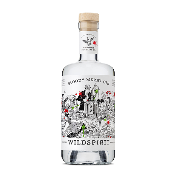 Wild Spirit Distilling Co. Bloody Merry Gin - 700ml