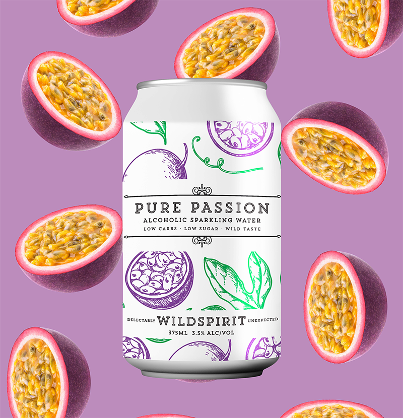 Wildspirit Pure Passion Alcoholic Sparkling Water - 24 Case
