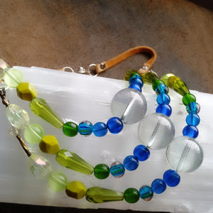 The Happiest Multi-Strand Czech Glass Necklace Ever!