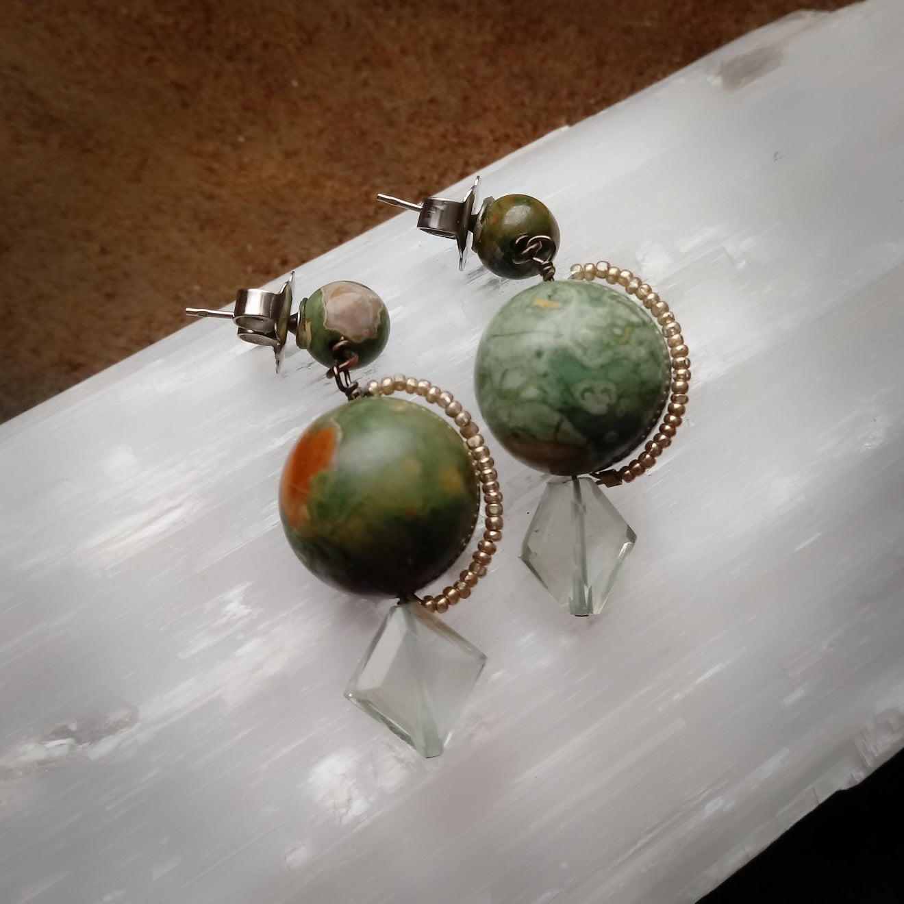 Harmonious Rainforest Jasper Earrings