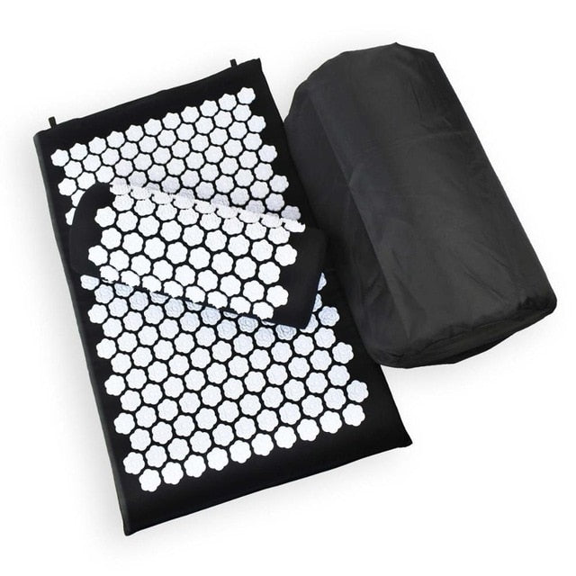 Tapis d'acupression noir Soroyee contre le mal de dos, anti-stress black acupressure mat