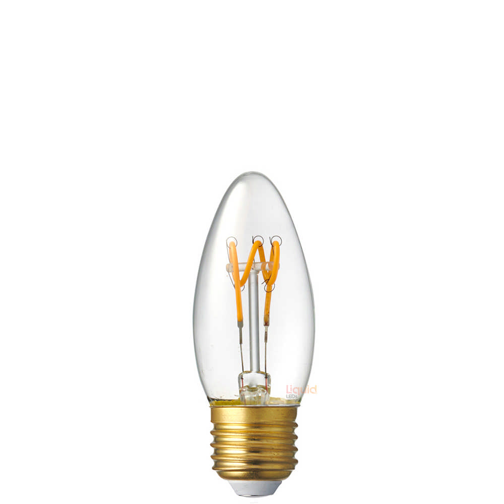 2W Candle Dimmable Tre Loop LED Bulb (E27) in Extra Warm White