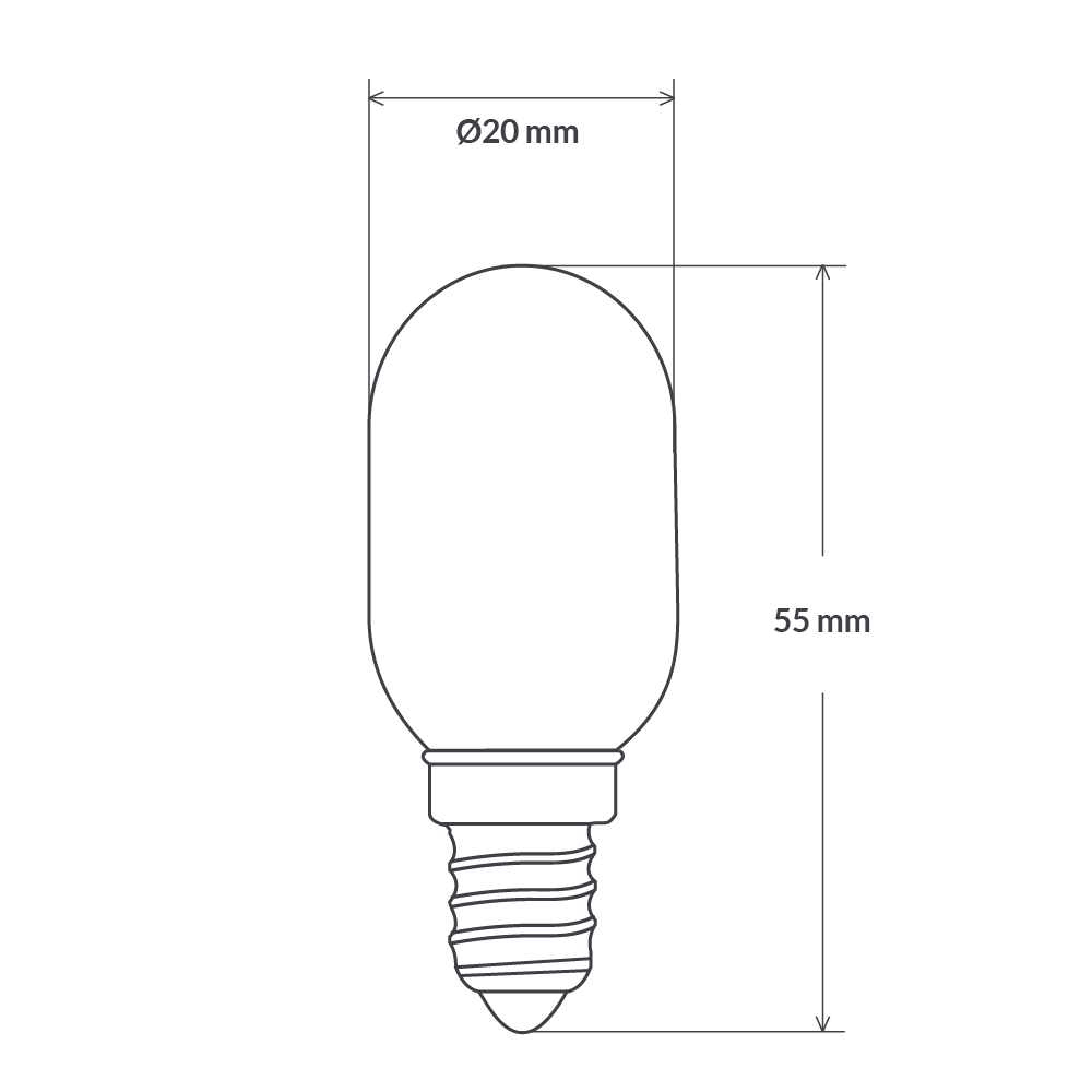 2 Watt 12 Volt Pilot Dimmable LED Filament Light Bulb (E14)