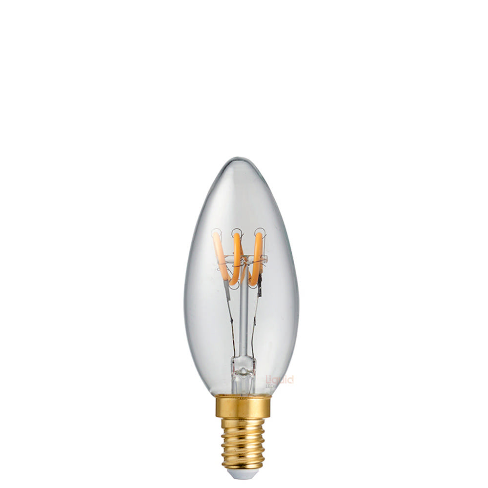 2 Watt Candle Dimmable Tre Loop LED Filament Bulb (E14)