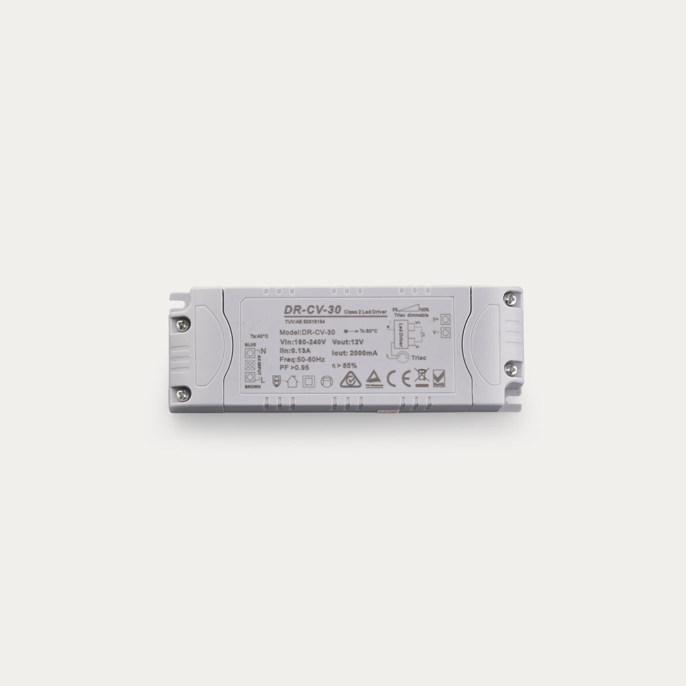 30W 12 Volt DC Dimmable Constant Voltage LED driver