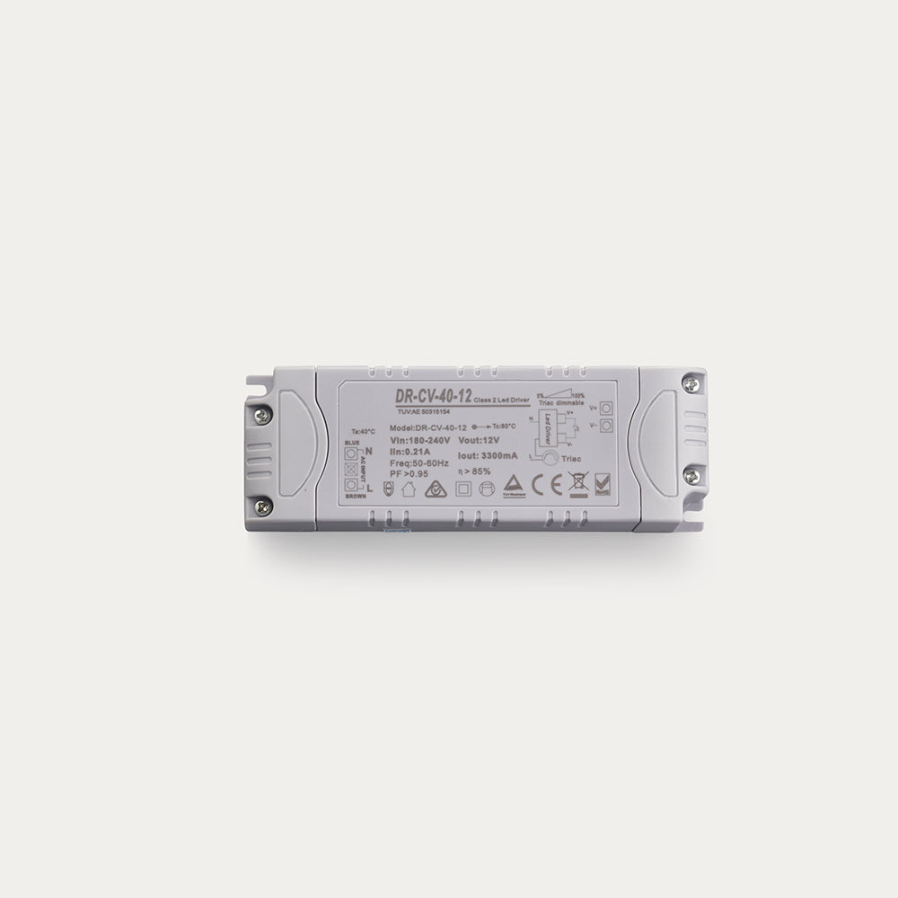 40 Watt 12 Volt Triac Dimmable Constant Voltage LED driver