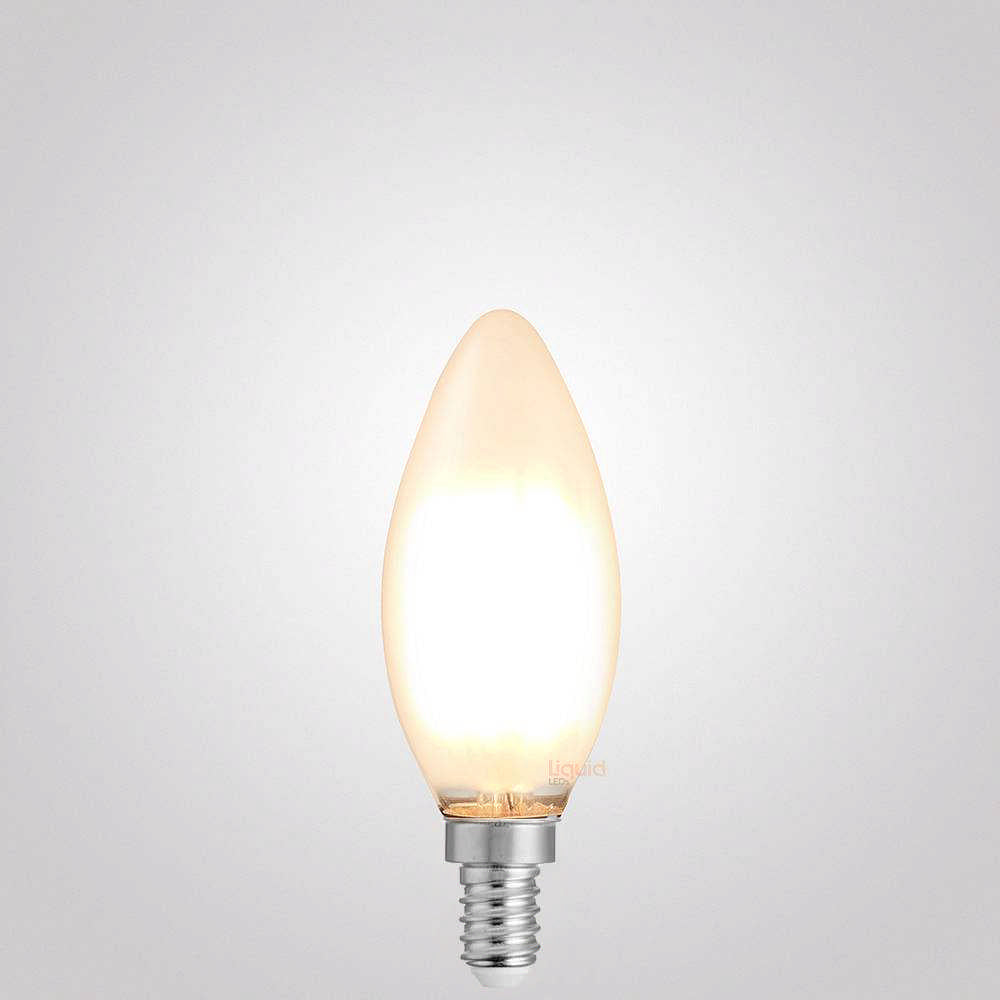 4W Candle Dimmable LED Bulb (E12) Frosted in Warm White