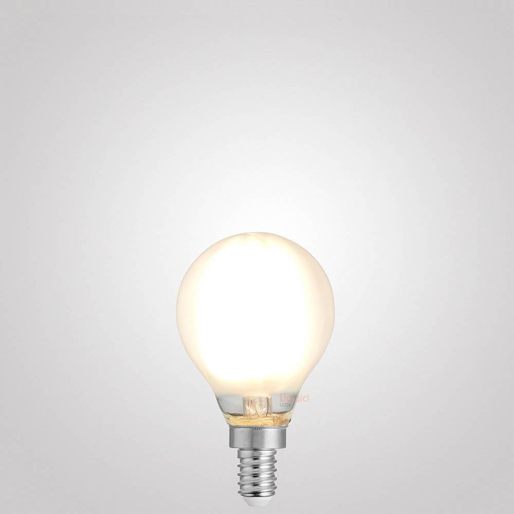 4W Fancy Round Dimmable LED Bulb (E12) Frosted