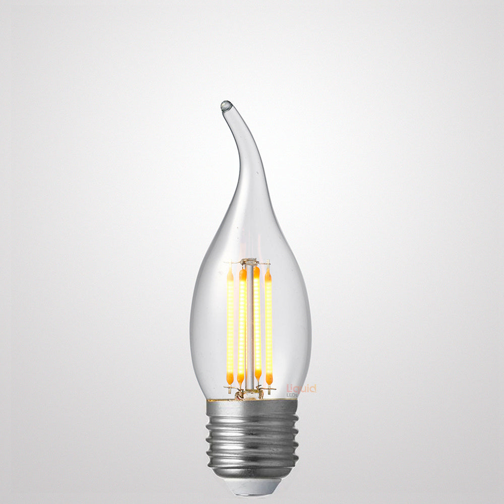 4W Flame Tip Candle Dimmable LED Bulb (E27) Clear in Warm White