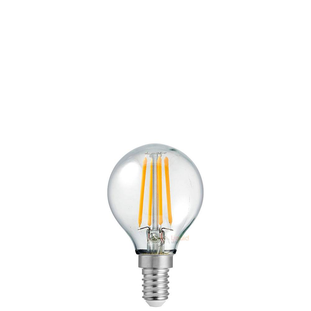 4W 12 Volt Fancy Round Dimmable LED Light Bulb (E14) in Warm White