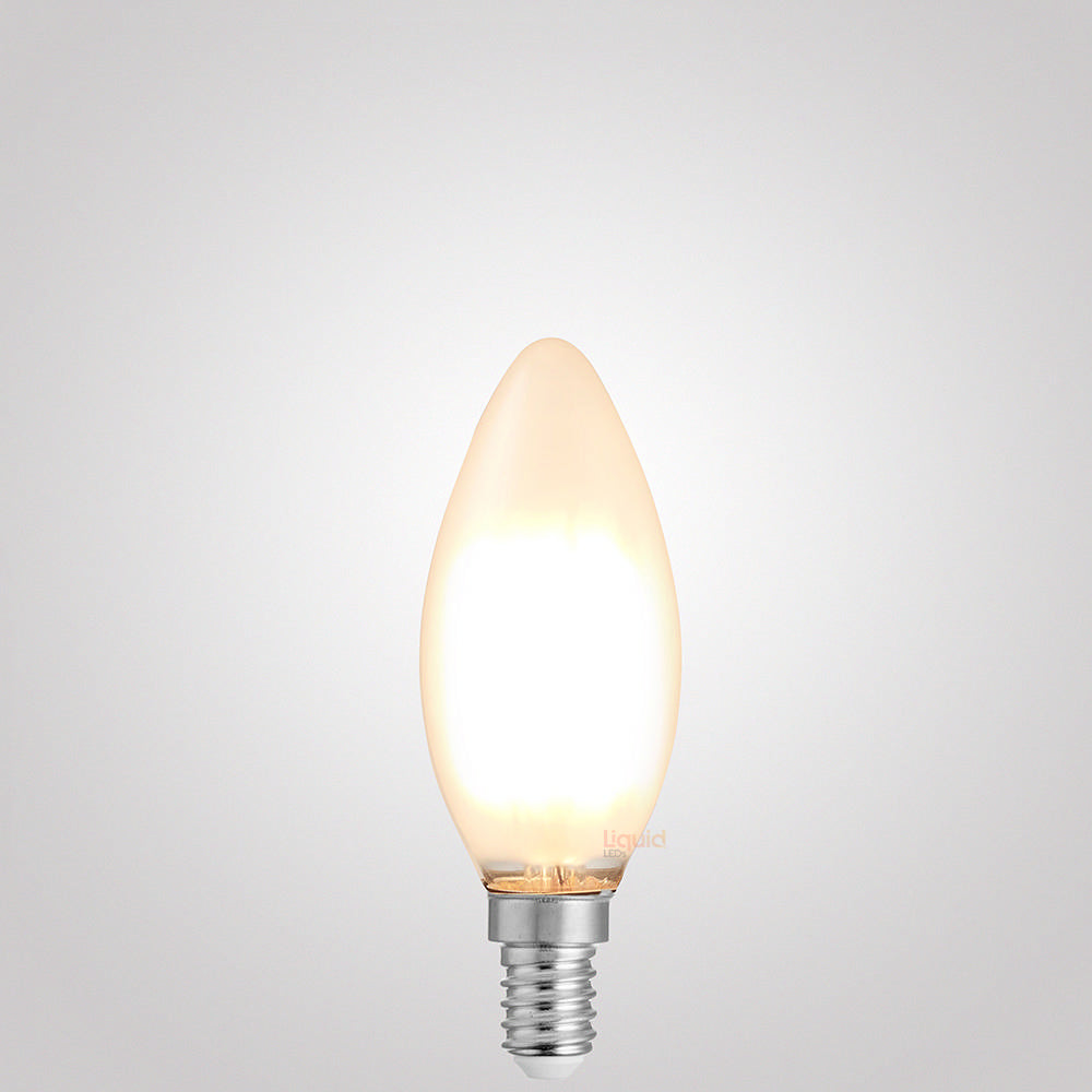 2W Candle Dimmable LED Bulb (E14) Frosted in Warm White - liquidleds