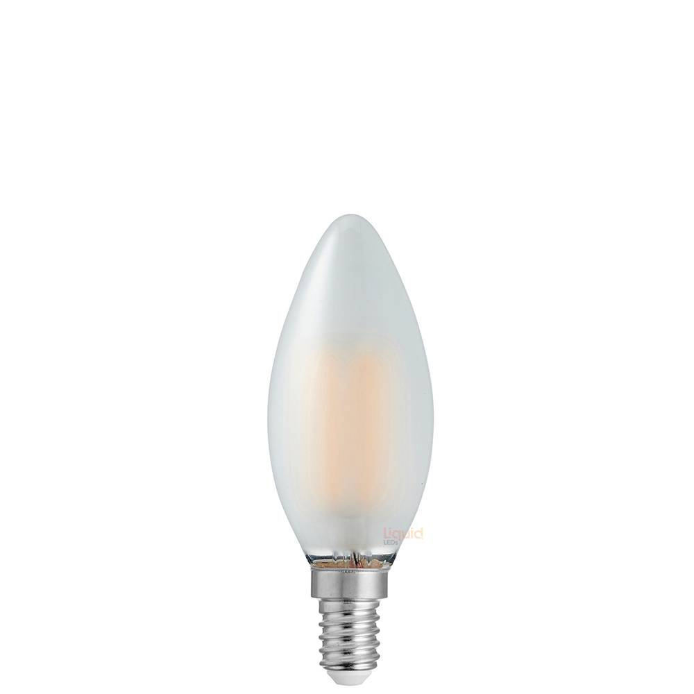 2 Watt Candle Dimmable LED Filament Bulb (E14) Frosted Candle Bulbs LiquidLEDs Lighting