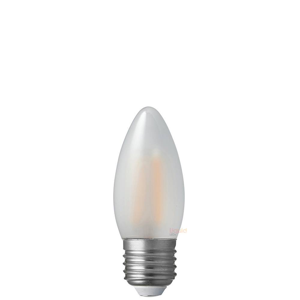 6 Watt Candle Dimmable LED Filament Bulb (E27) Frosted Candle Bulbs LiquidLEDs Lighting