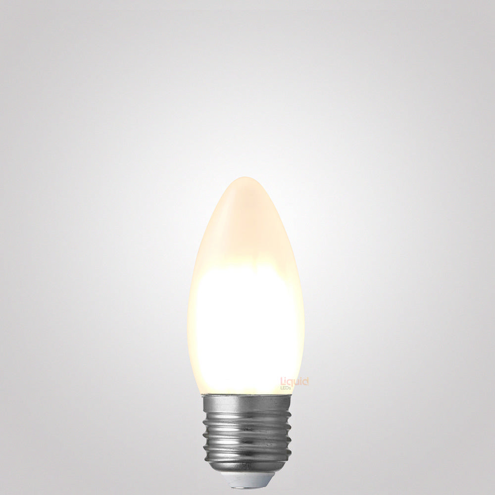 6W Candle Dimmable LED Filament Bulb (E27) Frosted in Warm White