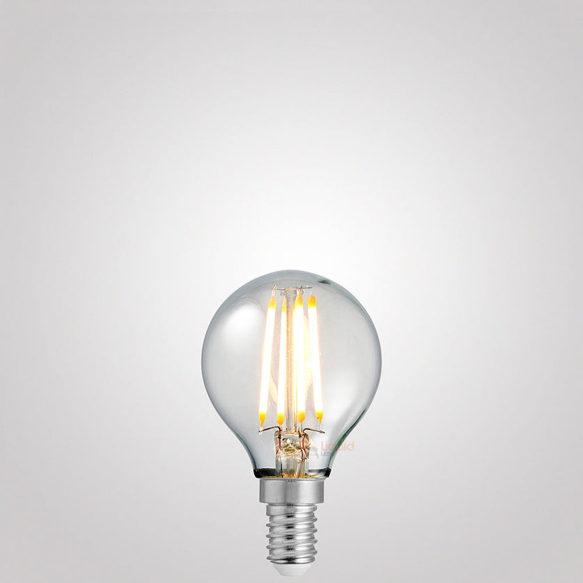 4 Watt Fancy Round Dimmable LED Filament Bulb (E14) Clear Fancy Round LiquidLEDs Lighting