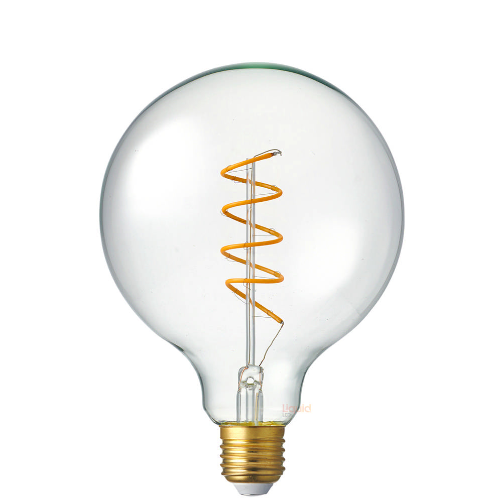 4 Watt G125 Dimmable Spiral LED Filament Bulb (E27)