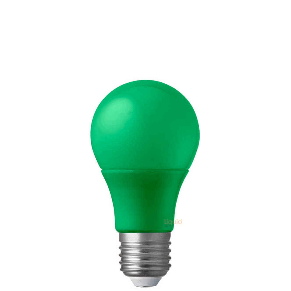 5W Green GLS LED Light Bulb (E27)