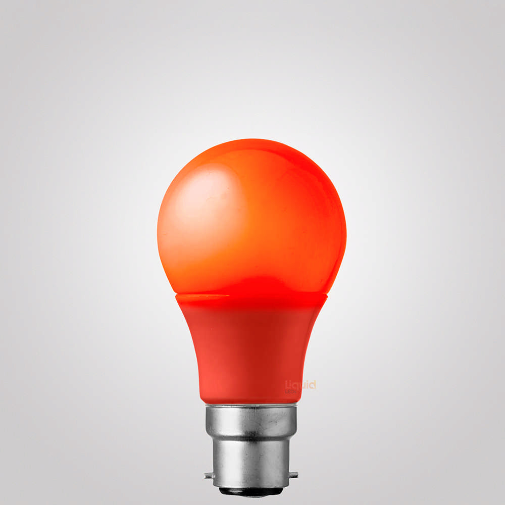 5 Watt Red GLS LED Light Bulb (B22)