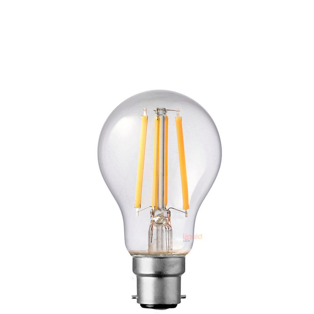 8W GLS Dimmable LED Bulb (B22) Clear in Warm White