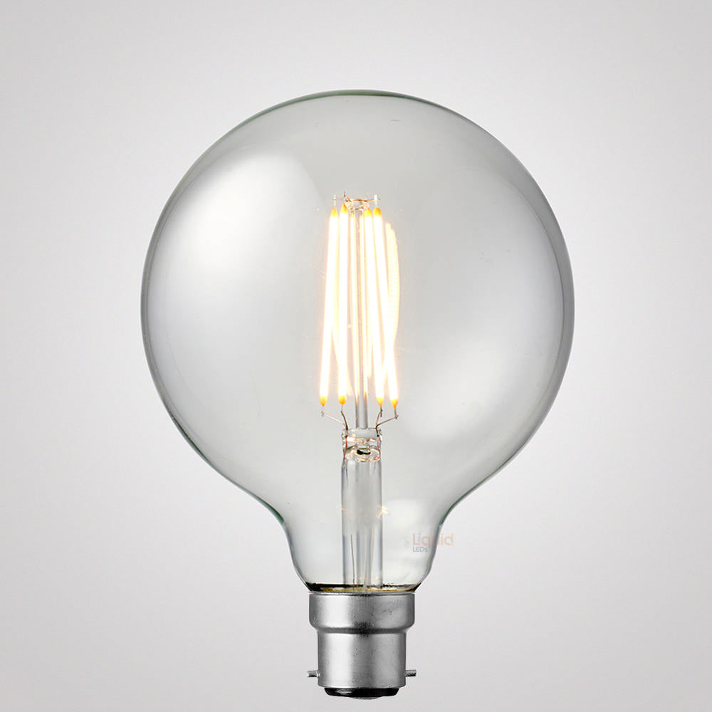 8W G125 Dimmable LED Light Globe (B22) in Warm White