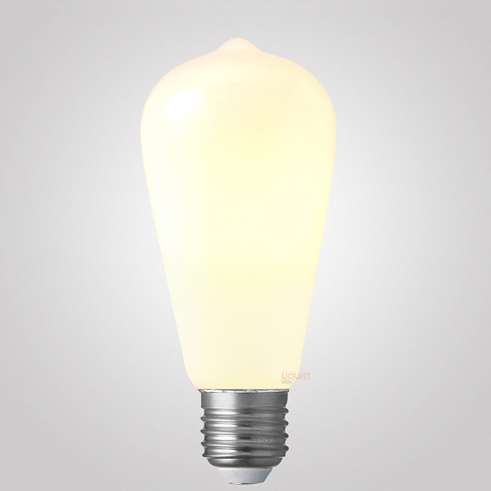8 Watt Edison Opal Dimmable LED Light Bulb (E27) Edison Bulbs LiquidLEDs Lighting