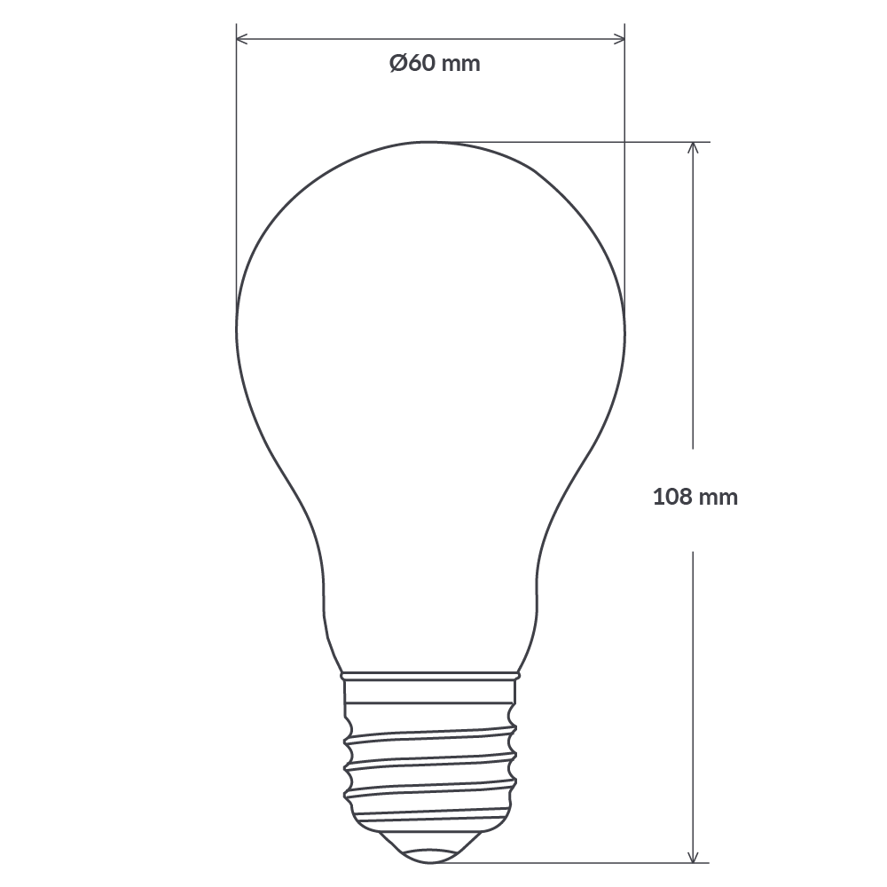 6 Watt GLS Dimmable LED Filament Light Bulb (E27) Frosted Traditional Bulbs LiquidLEDs Lighting