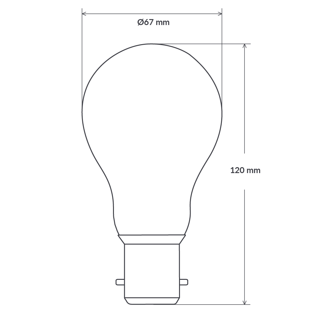 14W GLS Dimmable LED Bulb (B22) in Warm White