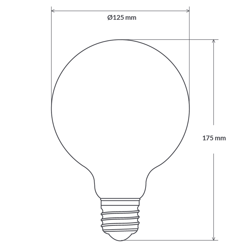 4 Watt Vintage G125 Dimmable Spiral LED Filament Bulb (E27)