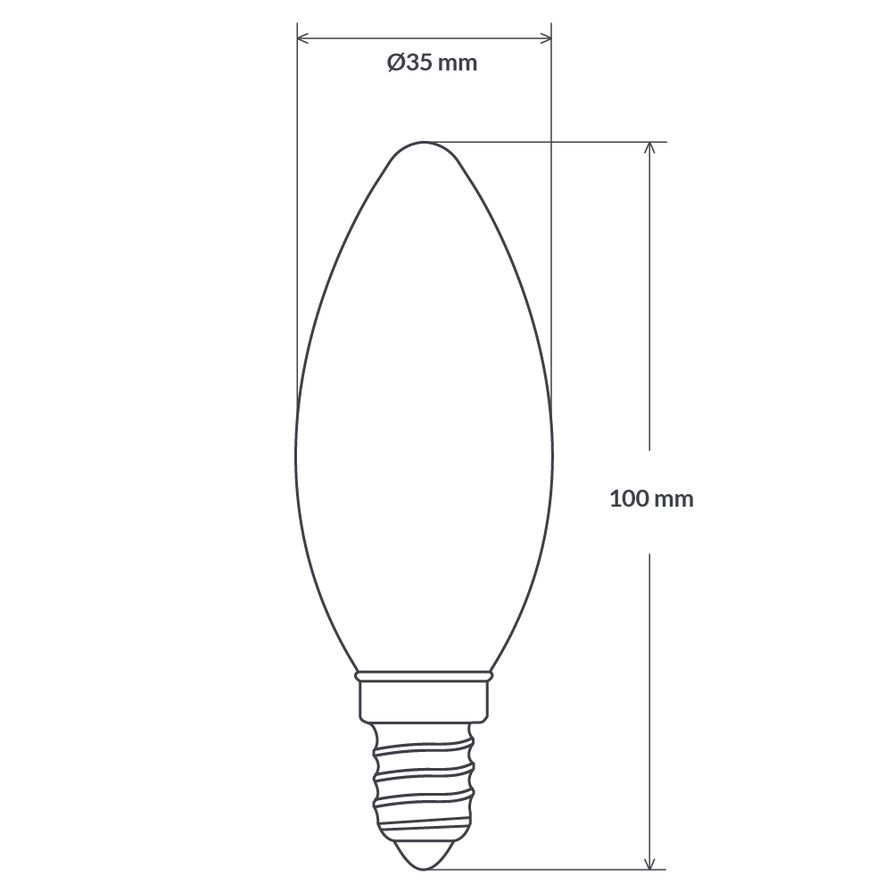 4 Watt Candle Dimmable LED Filament Bulb (E14) Frosted Candle Bulbs LiquidLEDs Lighting