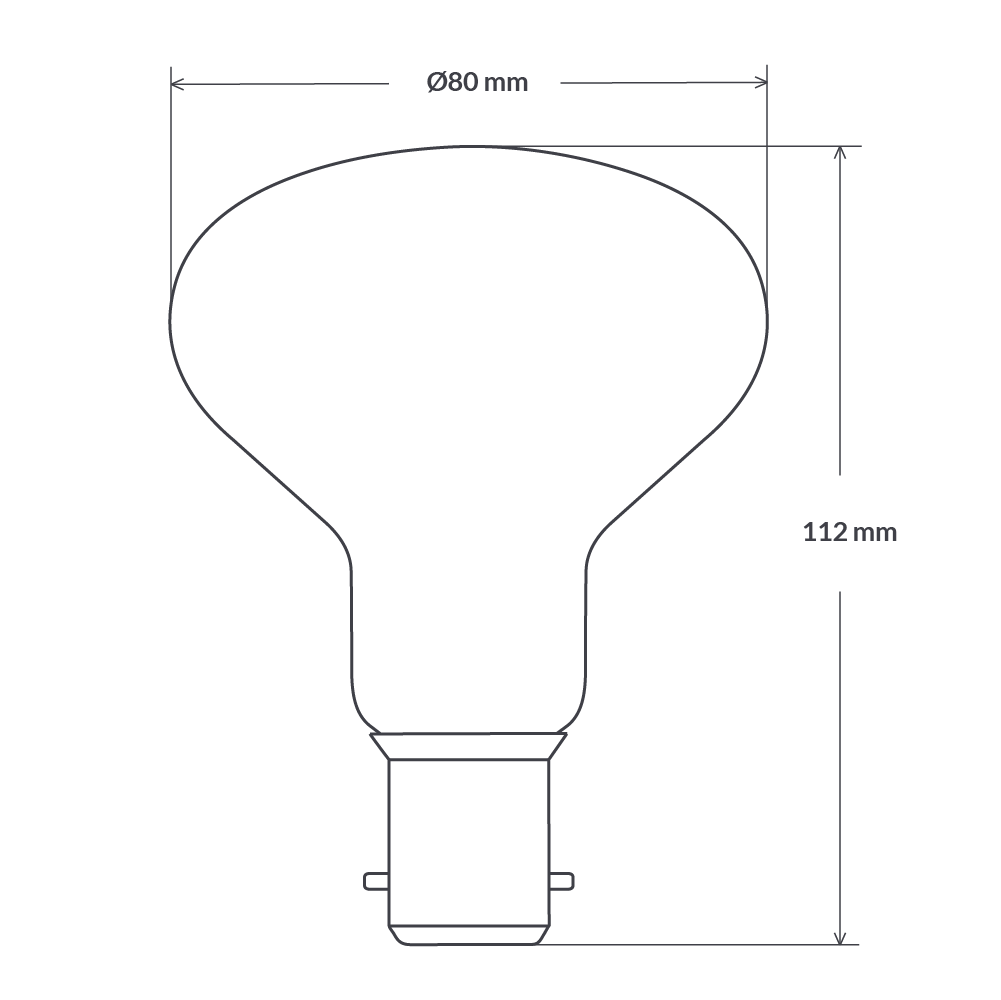 8W R80 Dimmable Reflector LED Globe (B22) in Natural White