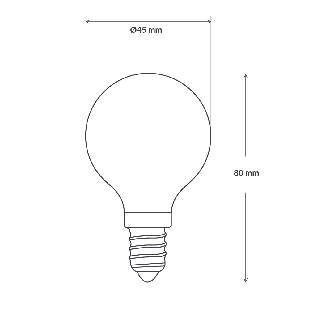 4 Watt Fancy Round Dimmable LED Filament Bulb (E14) Frosted Fancy Round LiquidLEDs Lighting
