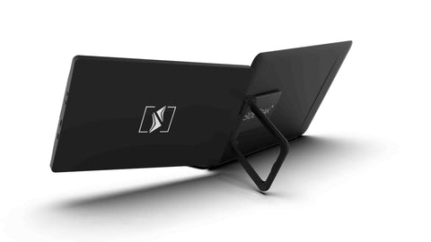 SideTrak Swivel's kickstand to support the weight on lighter laptops