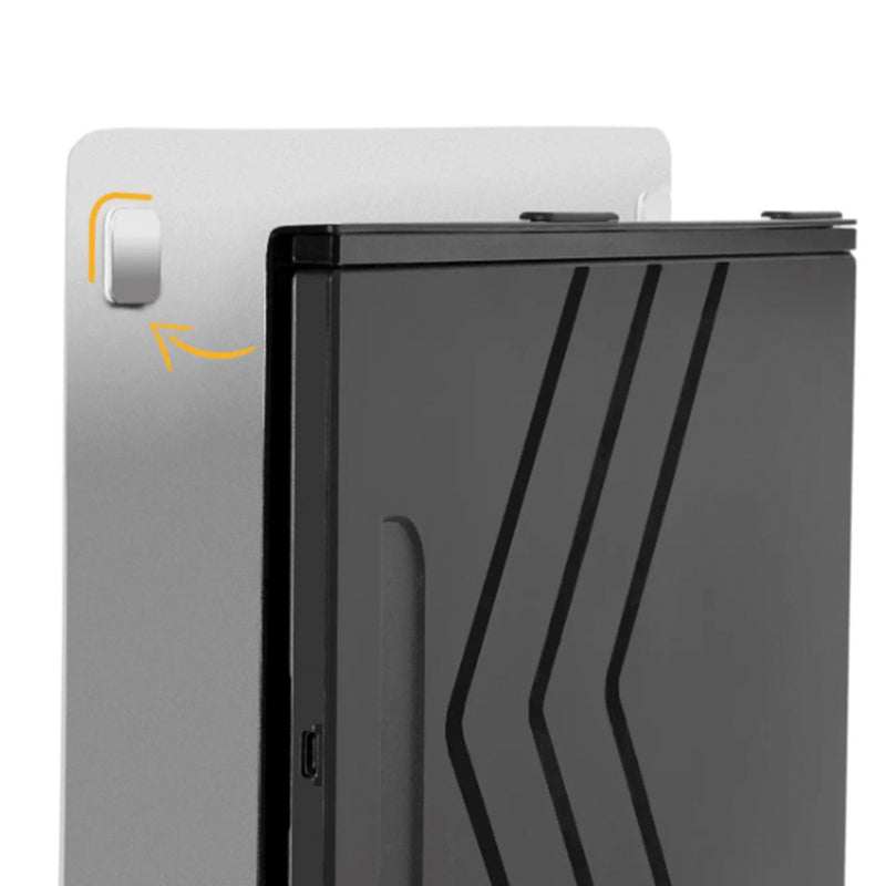 SideTrak portable monitor securely attaches to the back of your monitor