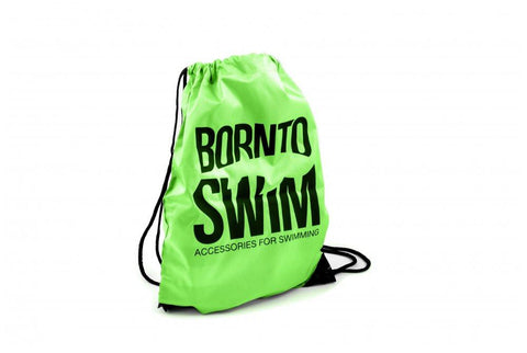 Swim Gear String Bag - Green with Black Logo