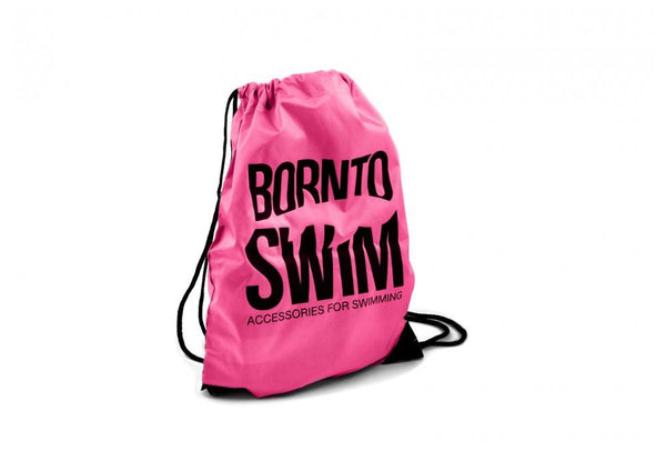 Swim Gear String Bag - Pink with Black Logo