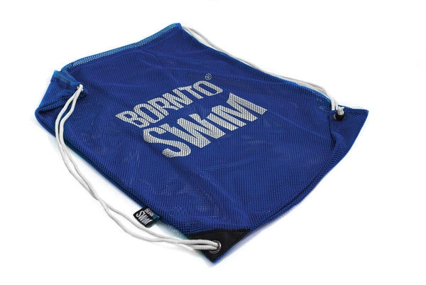 Swim Gear String Mesh Bag - Blue with White Logo