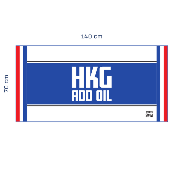 HKG Add Oil Special Edition Quick-drying Microfiber Towel
