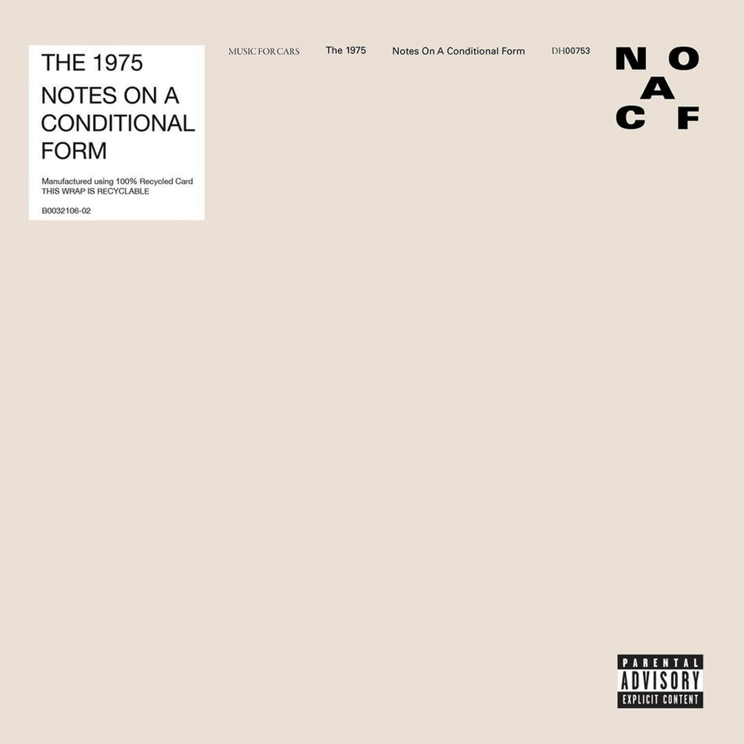 The 1975 -  Notes On A Conditional Form 2LP 140g Clear Colour Vinyl Record Album