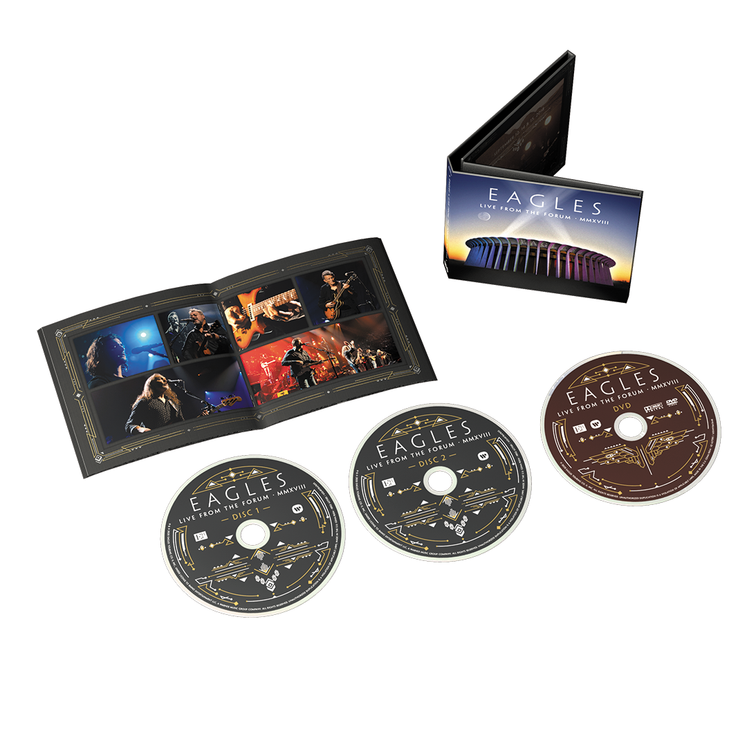 Eagles - Live From The Forum MMXVIII 2CD 1Bluray Digipak Album