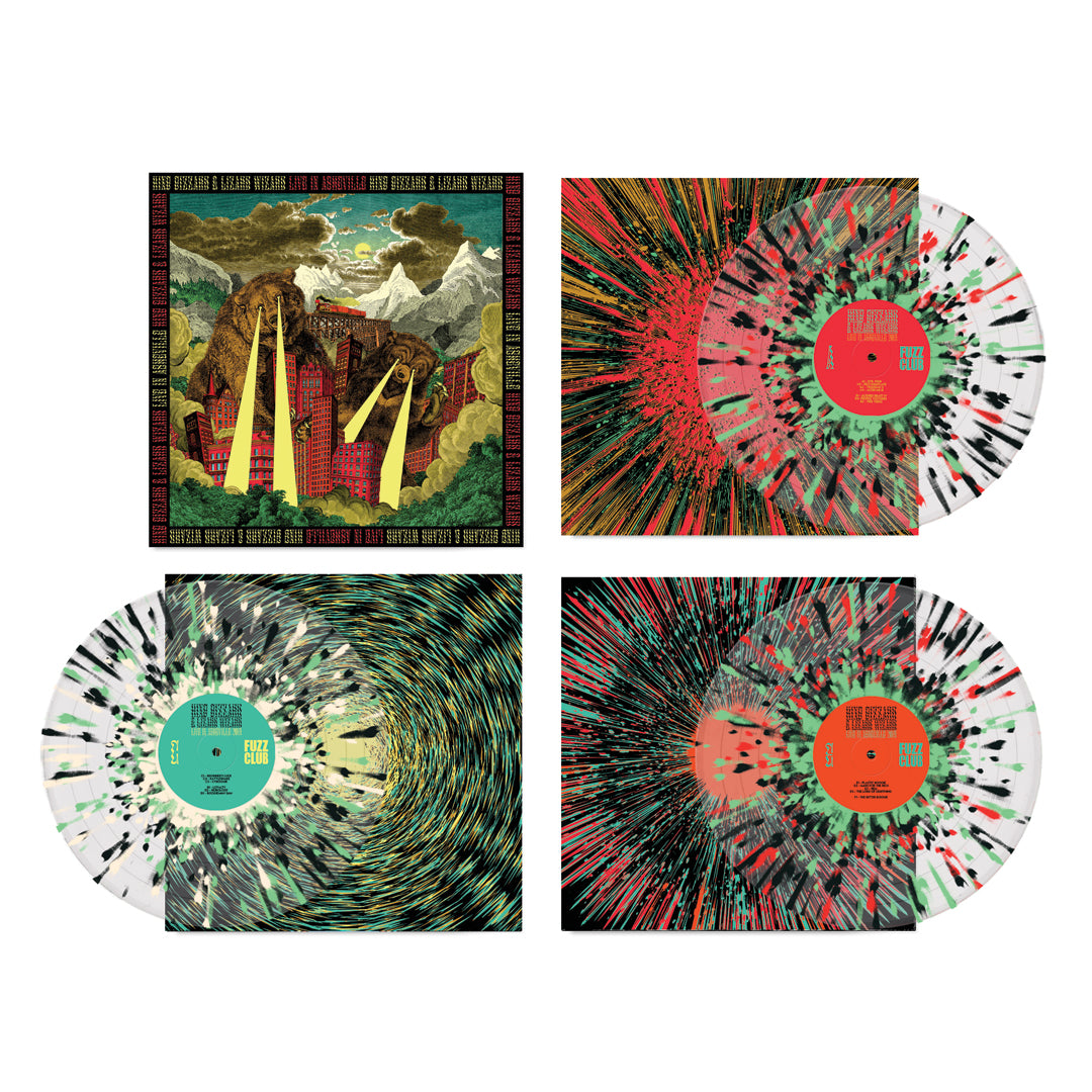 King Gizzard & The Lizard Wizard Live In Asheville '19 3LP Splatter Colour Vinyl Record Box Set