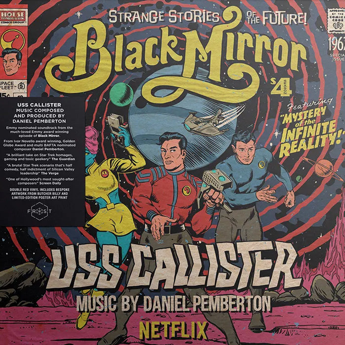 Daniel Pemberton ‎– Black Mirror USS Callister Soundtrack RSD  2LP Red Colour Vinyl Record Album, Vinyl, X-Records